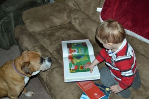 Reading to Dixie