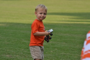 Henry enjoying the last days of summer on Bowman Field.
