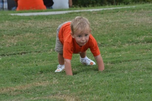 Our future defensive line man.   Coach Swinney needs to check him out.