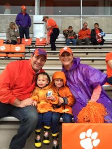 Our first family game at Clemson!