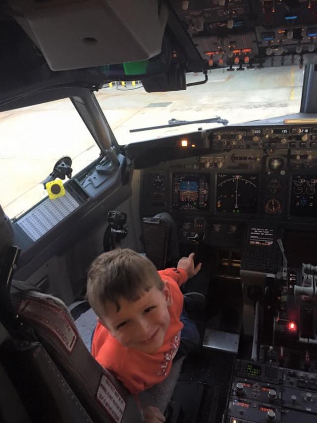 Davey in cockpit