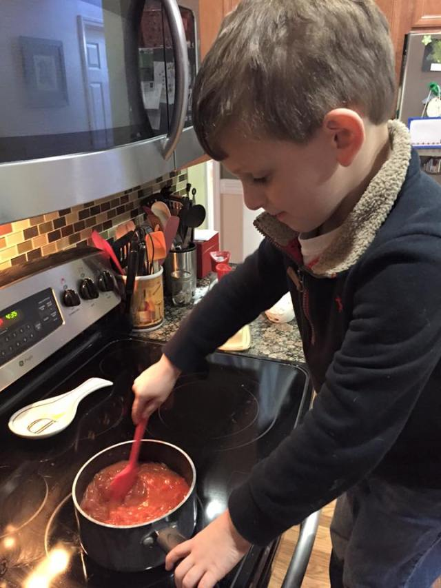 Davey cooking 4